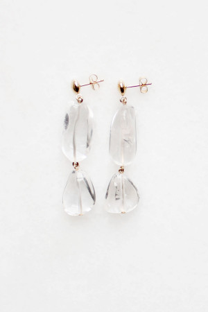 Tiered Quartz Earrings by The Vamoose